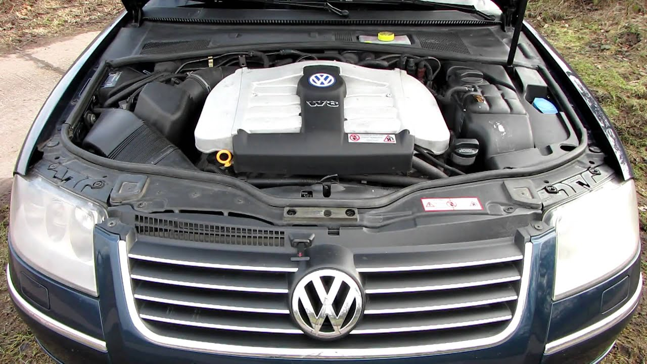 VW PASSAT W8 engine  YouTube