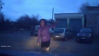 Выскочила на дорогу перед автомобилем