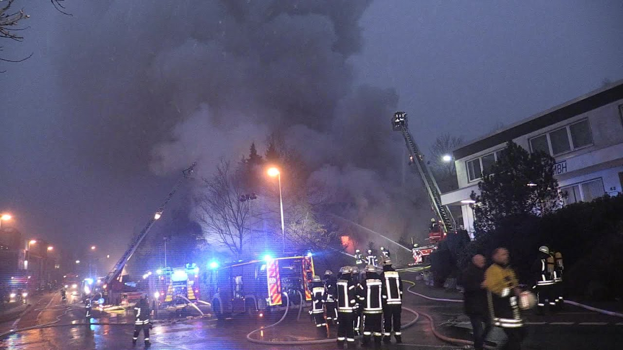 Großbrand Halle