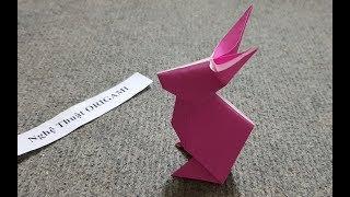 ORIGAMI ART - Hướng dẫn cách Gấp Con Thỏ Siêu Đơn Giản Dễ Thương