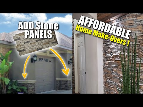 FAUX STONE PANELS . . . LOOK REAL!  An Overview of 3 Small Projects