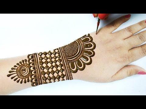 आसान अरेबिक मेहँदी डिज़ाइन लगाना सीखे - Easy Stylish Arabic Mehndi Design Trick   Holi Special Mehndi
