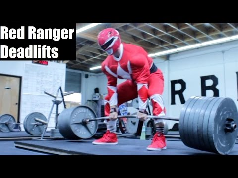 RED POWER RANGER DEADLIFTS 675LB!?!? (Ft Silent Mike)