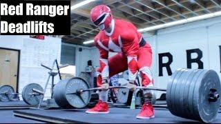 RED POWER RANGER DEADLIFTS 675LB!?!? (Ft Silent Mike)