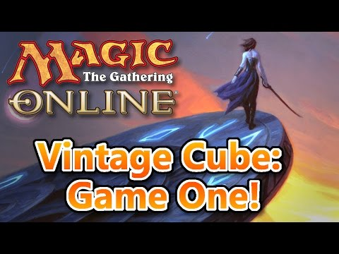 MTG - Vintage Cube Game One! Magic: the Gathering Online!