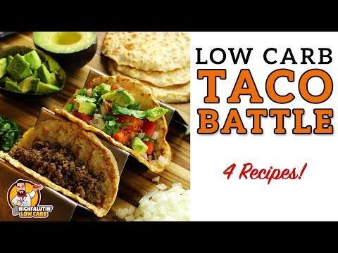 Low Carb TACO BATTLE! - The BEST Keto Taco Shell Recipes - Hard and Soft Lowcarb Tortillas