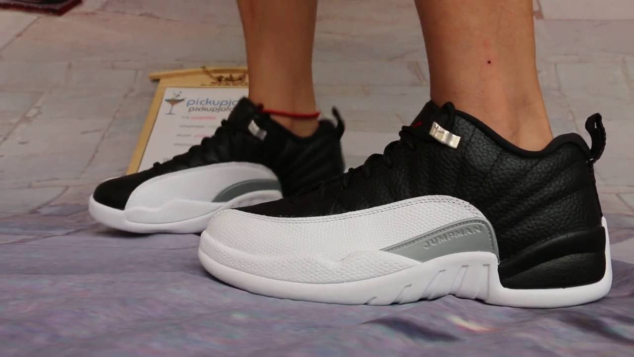 new products c1927 d2433 air jordan 12 low playoff on feet