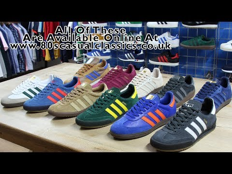 80s Casual Classics Adidas Collection, Samba, Jeans MK2, Bermuda and New York