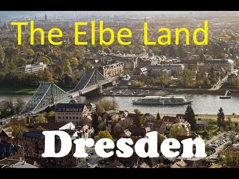 Travel to the bank of the beautiful Elbe River / Dresden / Germany