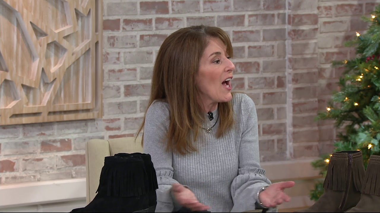 27fd4add6136 FLY London Suede Ankle Boots with Fringe - Yagi on QVC - YouTube