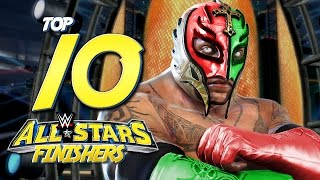 WWE ALL STARS - TOP 10 FINISHER ANIMATIONS!