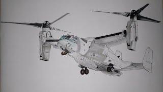 Dibujando una aeronave híbrida de motores basculantes