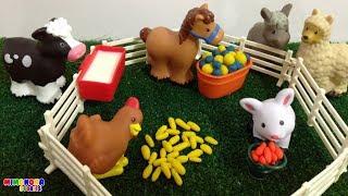 Animales de la granja �  Farm Animals Toy Cow Horse Donke...