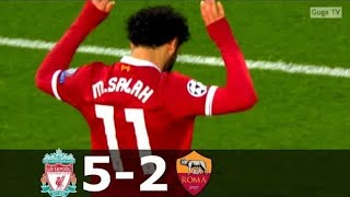 Liverpool vs Roma 5-2 - UCL 2017/2018 - Highlights (English Commentary) HD