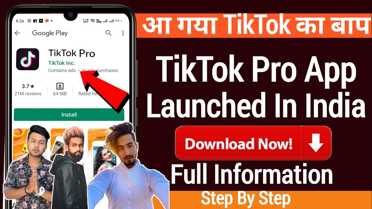 Bap Of TikTok | TikTok PRO app Launched In INDIA | Full Information Step By Step | TikTok Ban