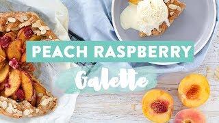 EASY Peach Galette | Healthy Dessert Recipe