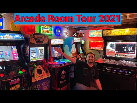Arcade Room Tour 2021 - Arcade1up, RecRoomMasters, Virtual Pinball, and more from UrGamingTechie