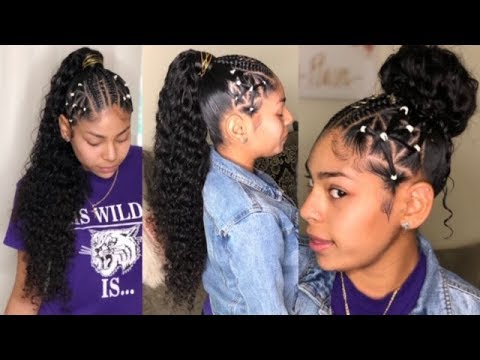 Sleek Curly Ponytail With A Twist Mslula Hair Youtube