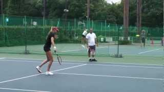Hantuchova Practicing with Görges and Radwanska at the 2012 Toray PPO ダニエラハンチュコバ 検索動画 12