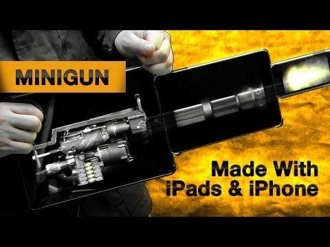 Minigun Made With iPads and iPhone Running Weaphones: Firearms Simulator