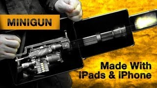 Minigun Made With iPads and iPhone Running Weaphones: Firearms Simulator