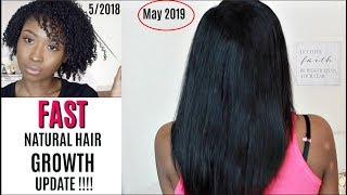 FAST Hair Growth! | NATURAL HAIR GROWTH ROUTINE UPDATE 2019 + Products to Grow Long Healthy Hair!