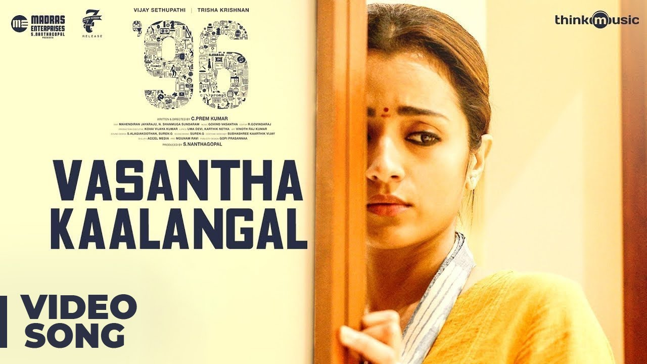 96   Vasantha Kaalangal Video Song   Vijay Sethupathi, Trisha   Govind Vasantha   C. Prem Kumar