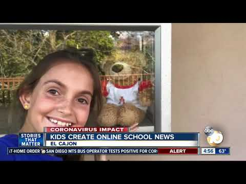 Kids Create Online School News