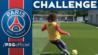 CHALLENGE GOLDEN BARRE with DAVID LUIZ - KEVIN TRAPP - EDINSON CAVANI - NICOLAS DOUCHEZ