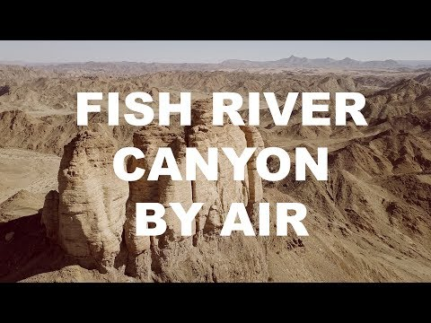 Namibia Fish River Canyon By Air In 4K
