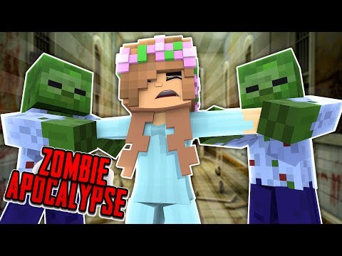 ZOMBIE TAKE OVER IN THE HOSPITAL! Minecraft Little Kelly
