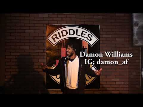 Damon Williams performs for his father Damon Williams at Riddles for his birthday