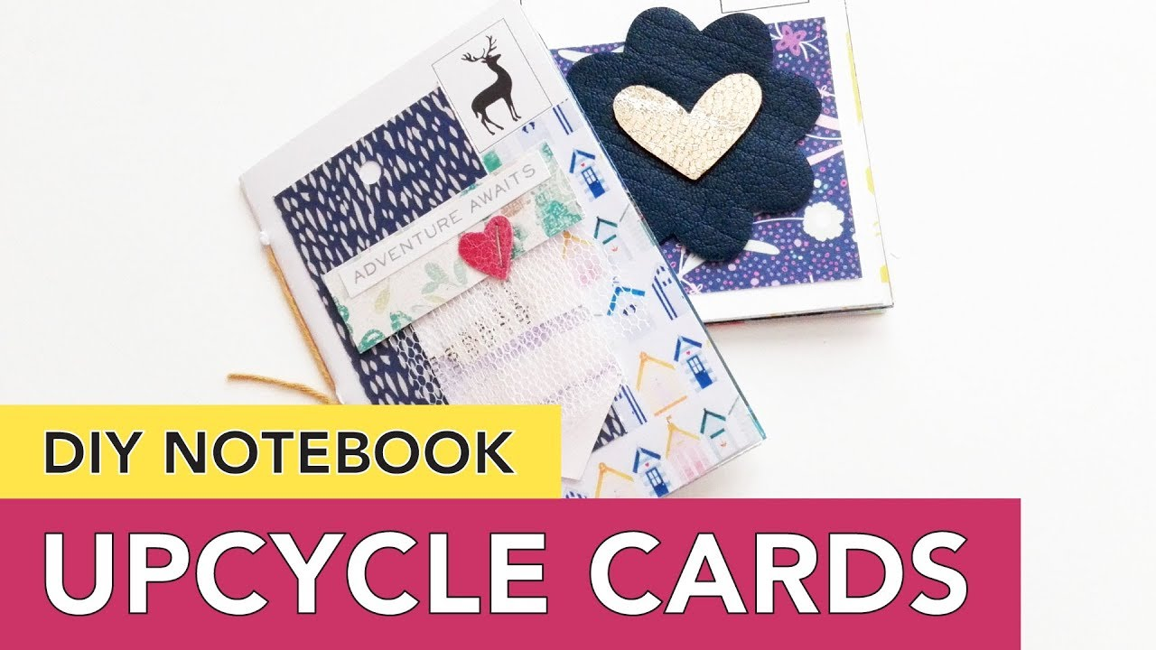 Upcycle Greeting Cards And Postcards Into Notebooks Youtube