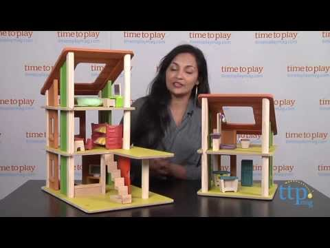 Chalet Dollhouse with Furniture from Plan Toys - YouTube