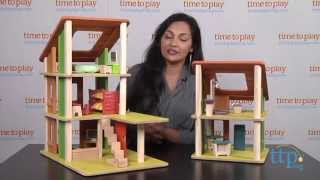 Chalet Dollhouse With Furniture From Plan Toys