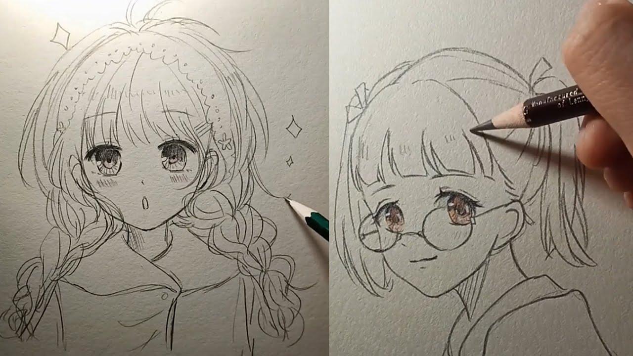 Hướng dẫn vẽ anime đơn giản | Cách vẽ tóc anime (tỉa tóc) | Tóm tắt những nội dung nói về vẽ tóc anime nữ chi tiết nhất