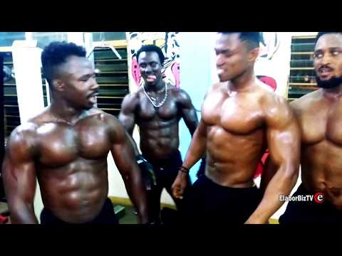 Ghana Campus Students Goes Muscle Flexing