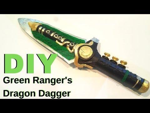 Green Ranger Dragon Dagger   Cardboard DIY