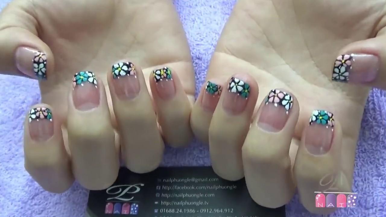 Kỹ thuật nhặt da tay, đẩy da tay, dưỡng móng tay, chăm sóc móng tay chân, trang trí móng tay đẹp