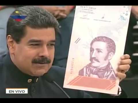 Maduro anuncia Reconversión Monetaria y nuevo cono de billetes a partir del 4 junio 2018