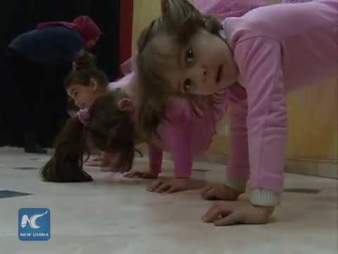 Little girls' ballet dream comes true in Gaza