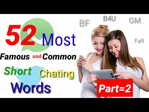 Top 52 Short Word Meaning Usually Used In Chat And Sms|| Part 2 || Urdu || Hindi || Munawar Pardesi