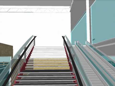 Supermarket Design Animation on Sketchup