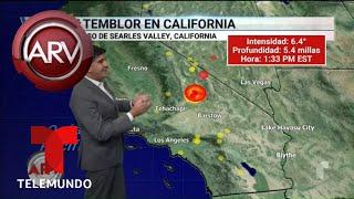 Efectos del sismo en el sur de California | Al Rojo Vivo | Telemundo