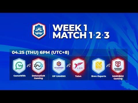 2019 CRL 亞洲賽區 S1 - 季賽第1週第1天