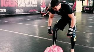 Timofey Nastyukhin and Riski Umar training for ONE Championship: Conquest of Heroes