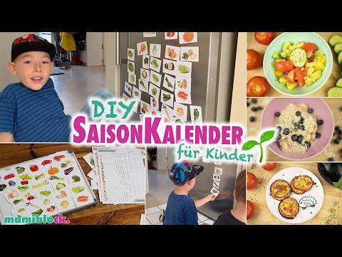 DIY Saison - Kalender: Nachhaltige Essenplanung 4 Kids | Food Diary | Mamiblock