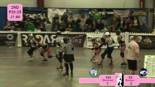 Roller Derby: 2012 East Region Playoffs - Montreal vs Boston
