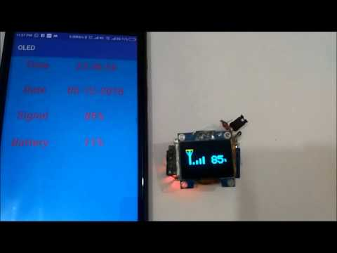 Build a Smart Watch by Interfacing OLED Display with Android