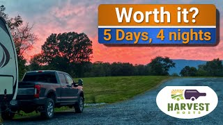 Trying out Harvest Hosts: 5 days boondocking